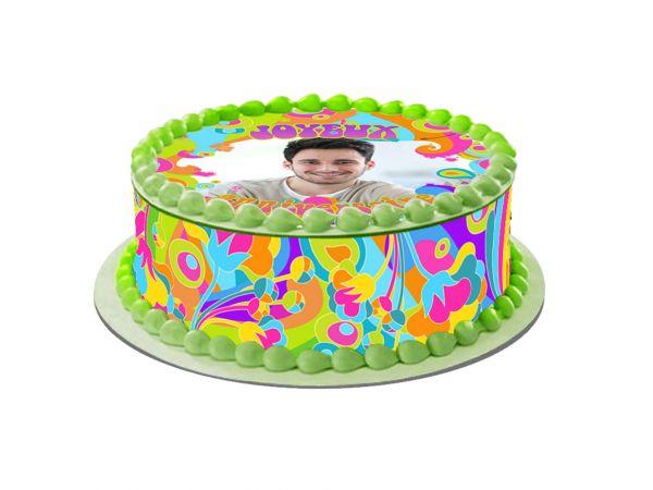 Kit deco azyme Easycake personnalisé décor Flower Power- Déco de gâteau