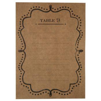 10 Plans de table Kraft