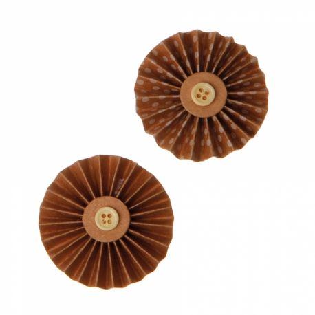 4 Mini rosetteskraft boutons en papier Dimensions : Ø5cm