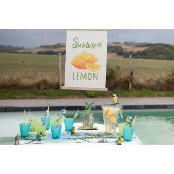 Pancarte fanion citron