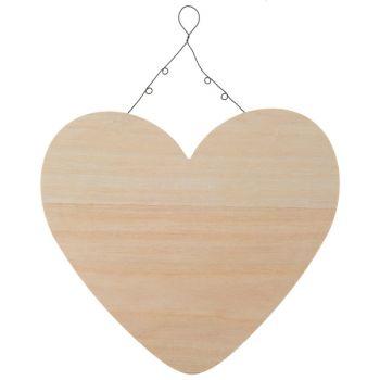 Pancarte coeur bois