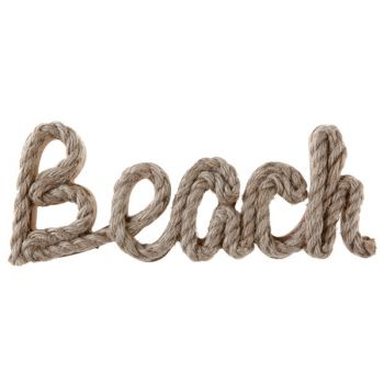 Decor Lettre Beach en corde