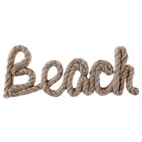 Superbe décor de lettre en bois et corde