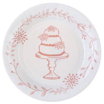 10 Assiettes mariage guinguette