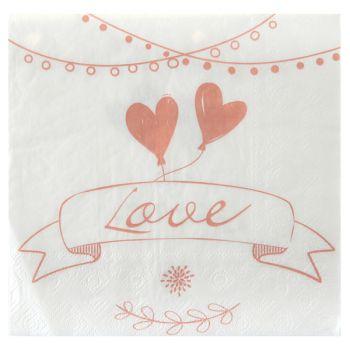20 Serviettes mariage guinguette
