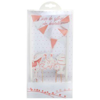 Kit cake topper mariage guinguette