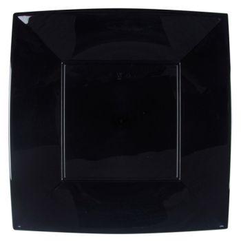 8 Mega Assiettes carrée noire
