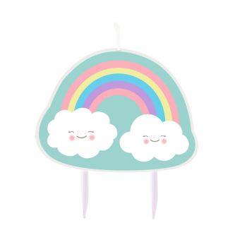 Bougie nuage rainbow pour gateau