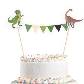Deco Fanions Dinosaure party pour gateau