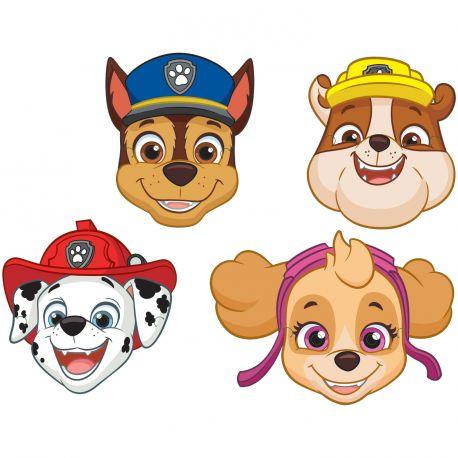 8 Masques en carton Pat Patrouille