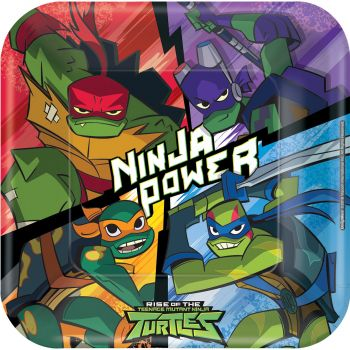 8 Assiettes Tortue Ninja mutant