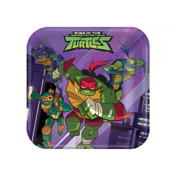 8 Assiettes dessert Tortue Ninja mutant