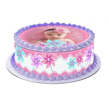 Kit Easycake pour gâteau personnalisé Moulin à vent Rose