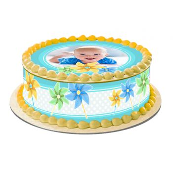 Kit Easycake pour gâteau personnalisé Moulin à vent Bleu