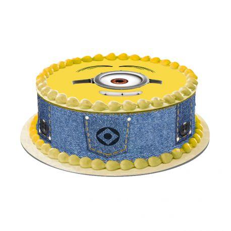 Kit décor en sucre Easycake pour réaliser la déco Les minions d'un gâteau rond en 1 clin d'oeil ! Prévu pour un gâteau d'un diamètre de...