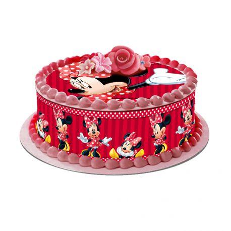 Kit décor en sucre pour réaliser un gâteau rond en 1 clin d'oeil ! Prévu pour un gâteau d'un diamètre de 20 cm soit 8 parts...