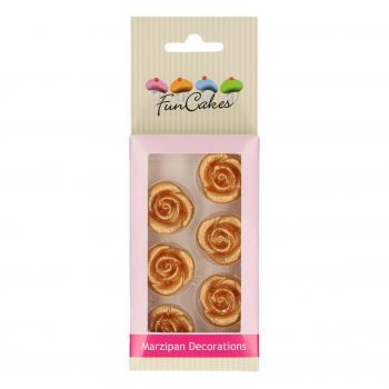 6 Roses or pâte d'amande Funcakes