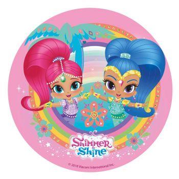 Disque azyme Shimmer & shine rainbow 20 cm