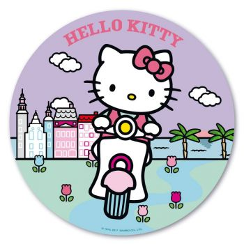 Photo comestible Hello Kitty palmier 20 cm