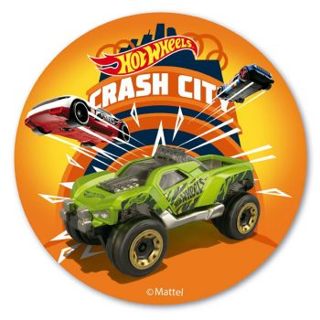 Photo comestible Hot Wheels City 20 cm