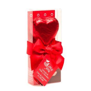 Sucette chocolat coeur guimauve