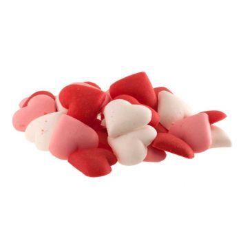 Mini coeurs en sucre rose rouge et blanc