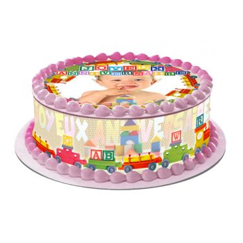 Kit Easy cake Joyeux Anniversaire à personnaliser