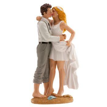 Figurine mariés à la plage