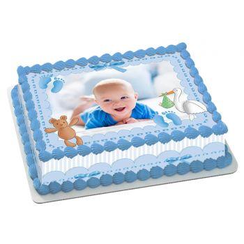 Kit Easycake Baby bleu à personnaliser A4