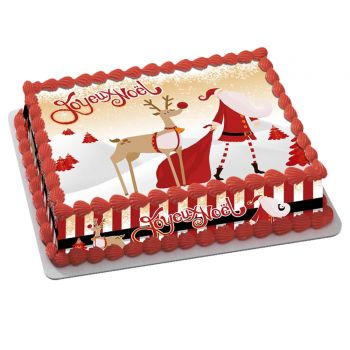 Kit Easycake Joyeux Noël or A4