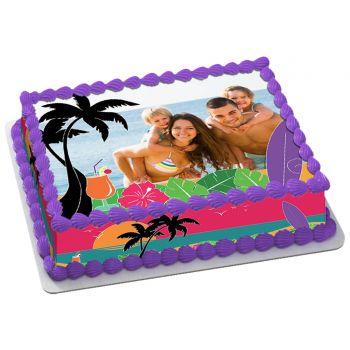 Kit Easycake Hawaï à personnaliser A4