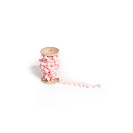 Jolie ruban de pompons rose pour sublimer toutes décorations et créations Dimensions : 1.5cm x 2 mètres