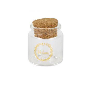 Mini pot en verre Bébé d'amour or