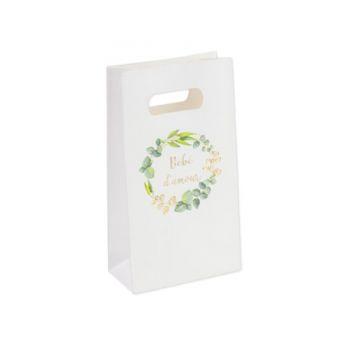 6 Sacs papier Bébé d'amour or eucalyptus