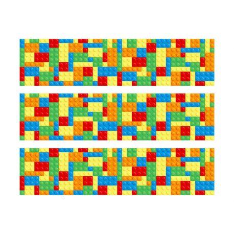 Bandes de sucre Block Party pour décorer le contour des gâteaux des passionnés de Lego. Livré en 3 bandes de 27 cm de long et 6.5 cm de...