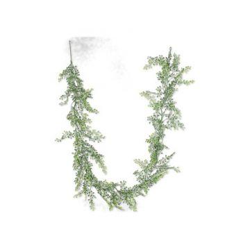 Guirlande feuilles rondes verte 180cm