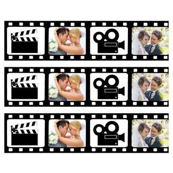 Bandes de sucre personnalisées décor cinema