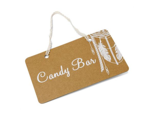 Pancarte Candy Bar Boho - Thema Deco.fr