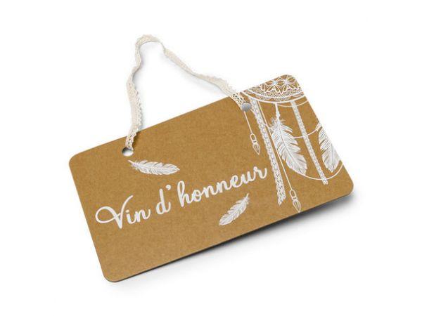 Pancarte Vin d'honneur Boho - Thema Deco.fr