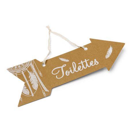 Superbe pancarte en carton kraft avec inscription