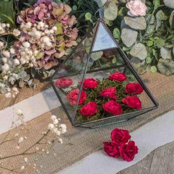 12 Roses rouge sur tige 3.5cm