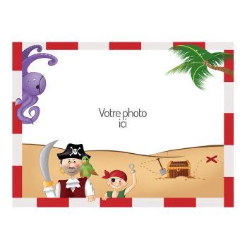 Décor sur sucre A4 décor Pirate à personnaliser