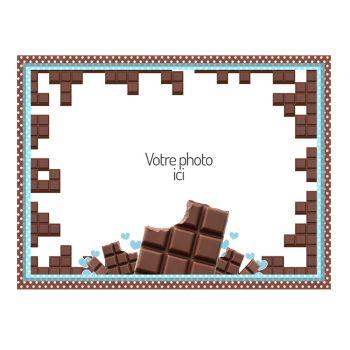 Décor sur sucre Chocolat à personnaliser A4