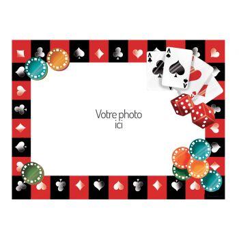 Décor sur sucre Poker A4 à personnaliser