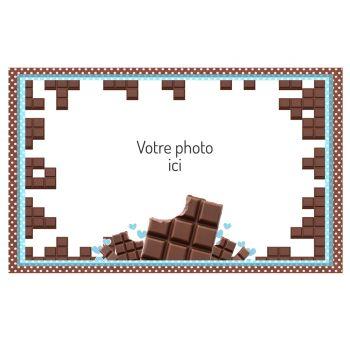 Décor sur sucre Chocolat A3 à personnaliser