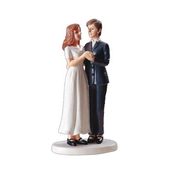 Figurine Couple femmes brunes 15 cm