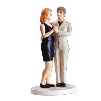 Figurine Couple femmes blonde 15 cm
