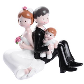 Figurine Mariés avec garçon