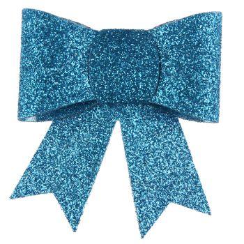 2 Pinces noeuds pailletés bleu