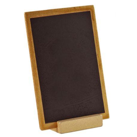 Ardoise centre de table sur lequel vous pouvez inscrire le menu ou le nom de la table. Dimensions: 10 cm x 15 cm
